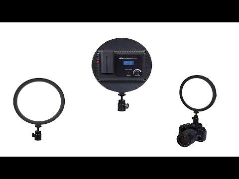 Dörr SL-300 Softlight LED-Videoleuchte Rund Tageslicht mit Blitzschuh-Kugelkopf