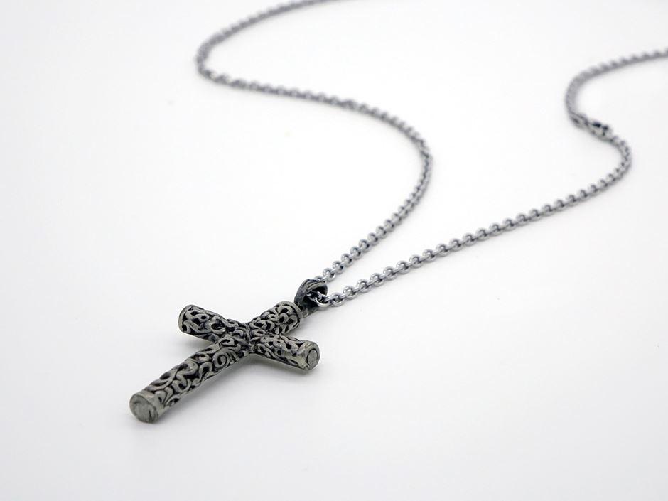 Kreuz Kette anthrazit
