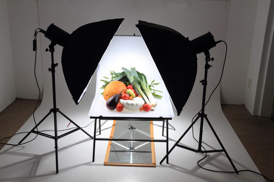 Softboxen Aufnahmetisch Produktfotografie