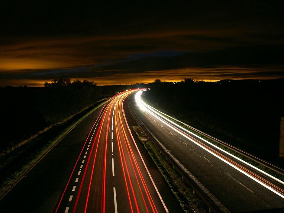 Timelapse Foto Autobahn