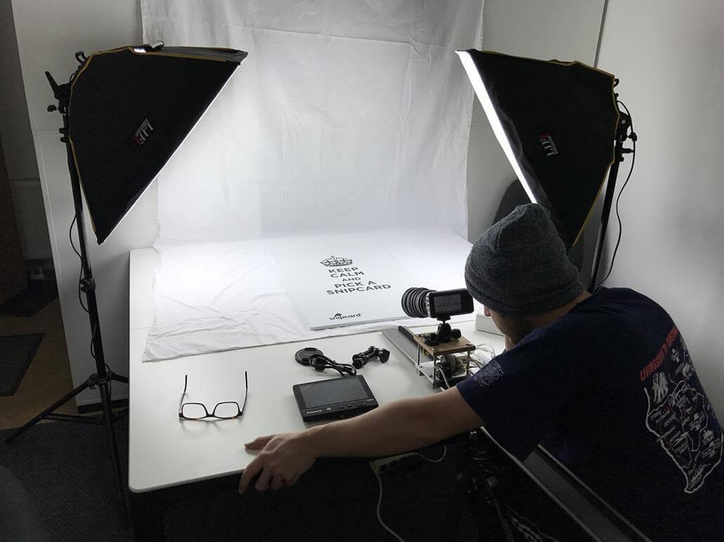 Aufnahmetisch Produktfotos