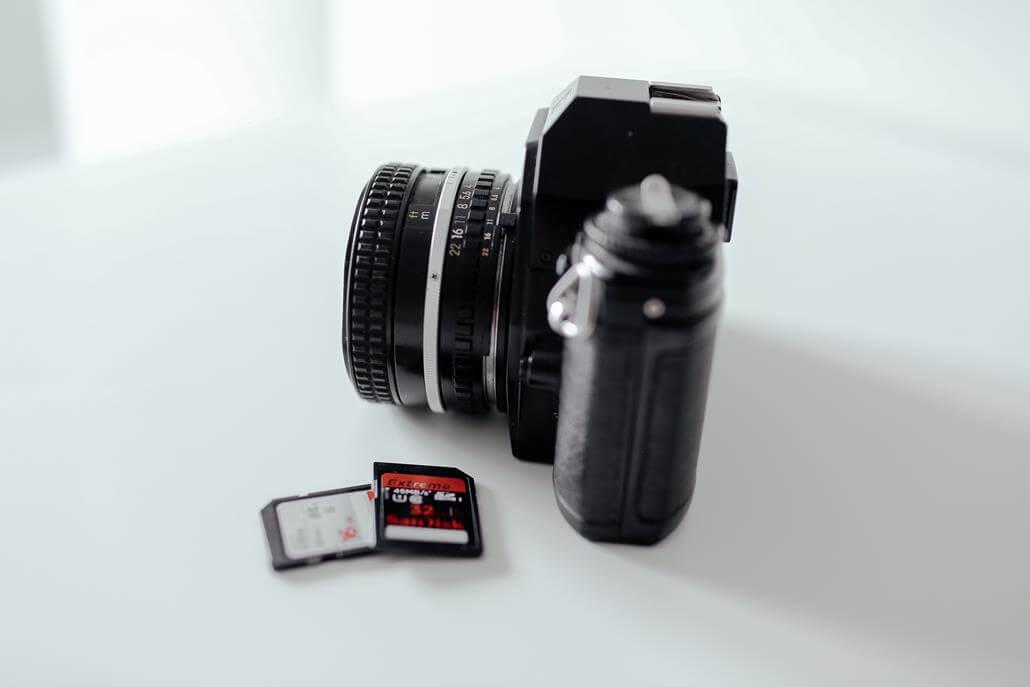 Spiegelreflexkamera Speicherkarte